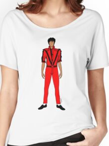 Thriller Red Jackson Pattern Women's Relaxed Fit T-Shirt