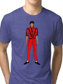 Thriller Red Jackson Pattern Tri-blend T-Shirt