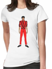Thriller Red Jackson Pattern Womens Fitted T-Shirt