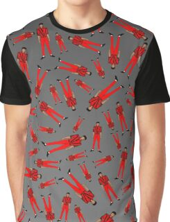 Thriller Red Jackson Pattern Graphic T-Shirt