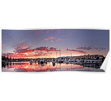 Raby Bay Harbour - Cleveland  Qld Australia Poster
