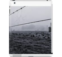 water on a wire at majorca iPad Case/Skin