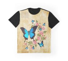 Ulysses Butterflies with Roses Graphic T-Shirt
