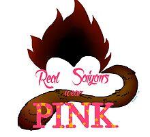Real Saiyans Wear Pink by RiskPig