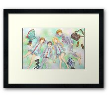 your lie in april in the grass Framed Print