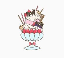 Sailormoon Luna Artemis Parfait Dessert Womens Fitted T-Shirt