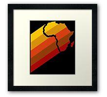 AFRICA RETRO Framed Print