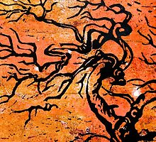 Old and Ancient Tree - Orange Tones by Heather Holland by Heatherian