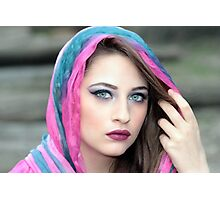Young  woman in wearing islamic scarf Photographic Print