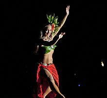 Old Lahaina Hula Dancer by Leanne Kelly