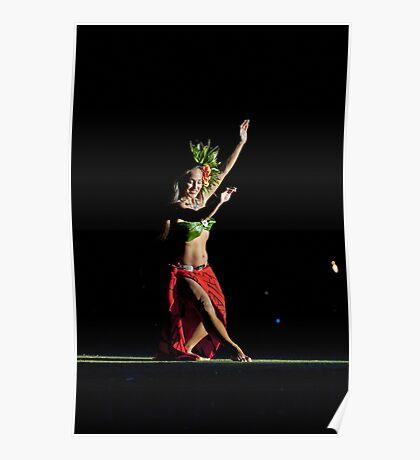 Old Lahaina Hula Dancer Poster