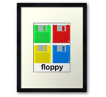 Four floppies Framed Print