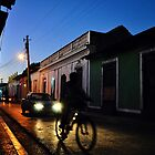 Night Rider in Trinidad de Cuba (Colour Version) by Leanne Churchill