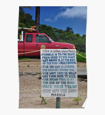 Ha'ena Beach Park, Kauai Poster