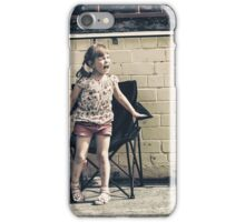 Angry little girl iPhone Case/Skin