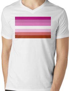 Lipstick Lesbian Pride Flag Mens V-Neck T-Shirt