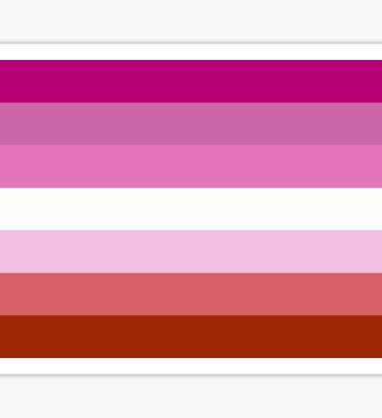 Lipstick Lesbian Pride Flag Sticker