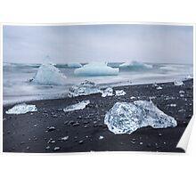 Jokulsarlon glacier lagoon, Iceland Poster