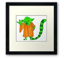 Yoda lemur Framed Print
