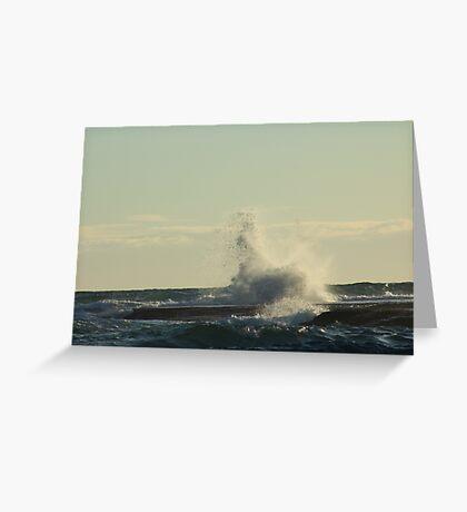 blue seas, blue skies Greeting Card