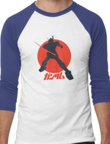 Gundam Attack Pose Men's Baseball ¾ T-Shirt