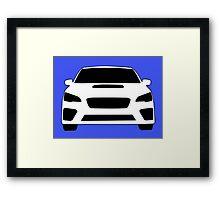 2015+ Subaru WRX Sticker / Tee - Full Front Design Framed Print