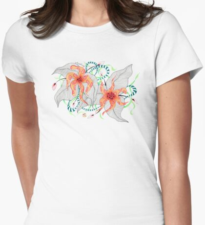 Mystical Flora Womens Fitted T-Shirt