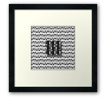 Floating cube Framed Print