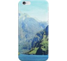 Fjord in watercolor iPhone Case/Skin