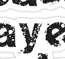 Bass Players Rule - Black Musician T-Shirt Sticker