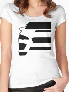 2015+ Subaru WRX STI Full Front with Corner Edge Cut Sticker / Decal Women's Fitted Scoop T-Shirt