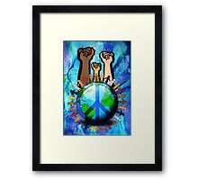 Unity And Peace - Raised Fists! Framed Print