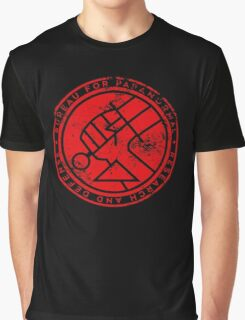 BPRD red texture icon Graphic T-Shirt