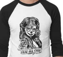 Day Of The Dead Girl 3 Illustration Men's Baseball ¾ T-Shirt