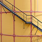 Stairs On A Yellow Silo by Mythos57