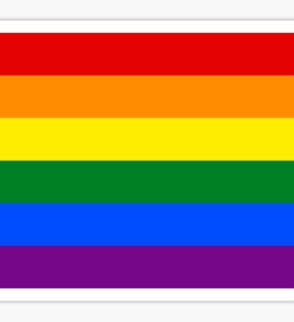 Gay Pride Rainbow Flag Sticker