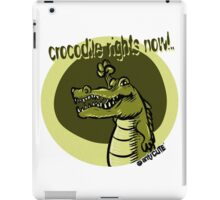 crocodile rights now green iPad Case/Skin