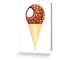 Drumstick Ice Cream Cone Greeting Card