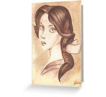 Bonjour, Elizabeth Greeting Card