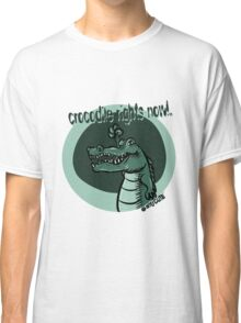 crocodile rights now blue Classic T-Shirt