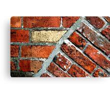Tectonic Bricks - Saint Nicholas Church, Carrickfergus. Canvas Print