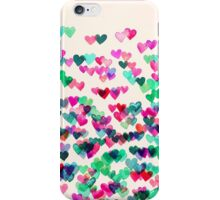 Heart Connections II - watercolor painting (color variation) iPhone Case/Skin