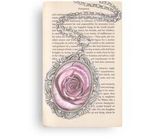 Silver & Rose Canvas Print