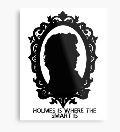 BBC Sherlock Holmes Cameo Metal Print