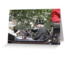 Prince Edward in a carriage Greeting Card