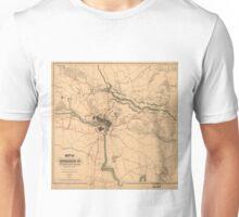 Vintage Richmond VA Rebel Defense Map (1864) Unisex T-Shirt