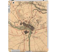 Vintage Richmond VA Rebel Defense Map (1864) iPad Case/Skin