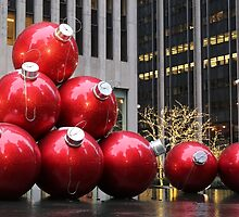Huge Christmas Ball Ornaments in NYC by stine1