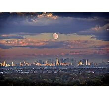 Full Moon Over New York, USA Photographic Print