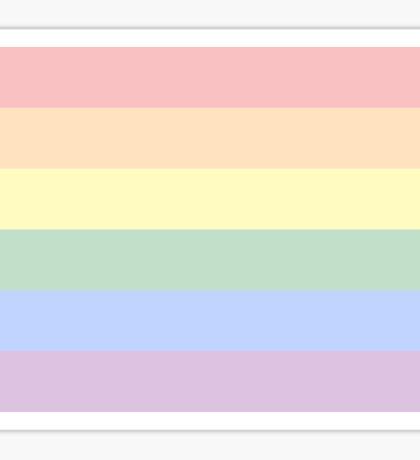 Pastel Gay Pride Flag Sticker